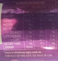 Passion Crush - Informations nutritionnelles