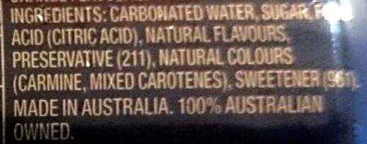 Orange Crush - Ingredients