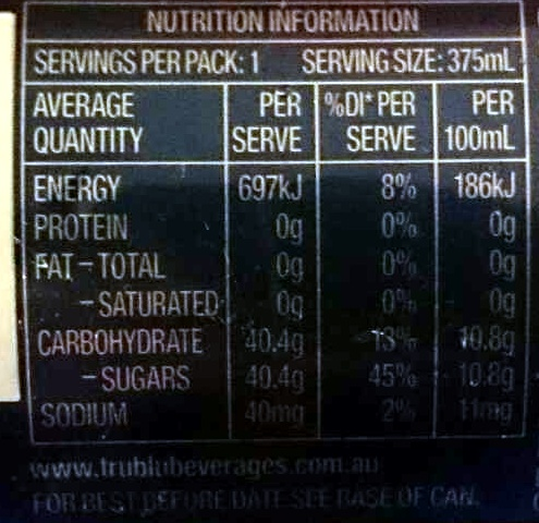 Orange Crush - Nutrition facts - en