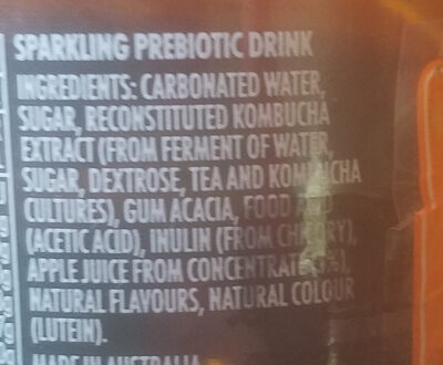 Pine Mango Kombucha - Ingredients - en