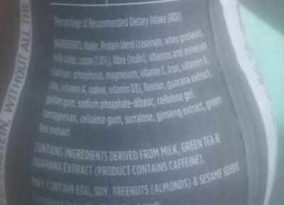 Protein Shake - Choc Honeycomb - Ingredients