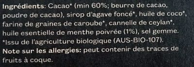 Pana Cacao Menthe 45G Pana Cacao - Ingredients - fr
