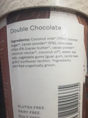 Pana Organic Double Chocolate - Ingrédients - en