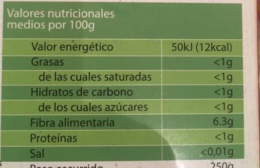 Spaguetti - Nutrition facts - es