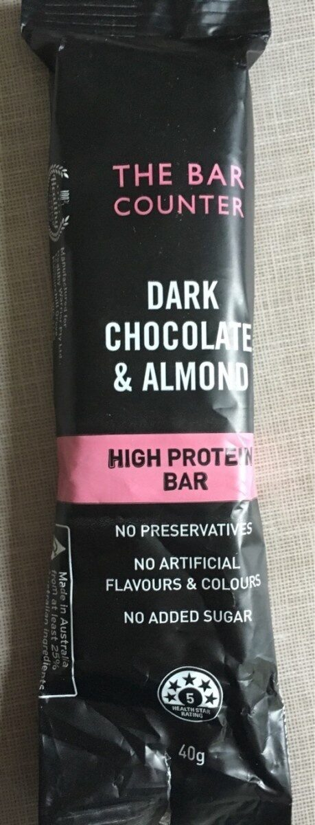 Dark chocolate and almonds protein bar - Product - fr