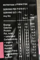 Dark chocolate and almonds protein bar - Nutrition facts - fr