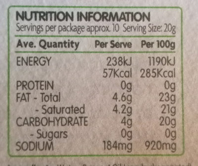 Bio cheese dairy free slices - Nutrition facts - en