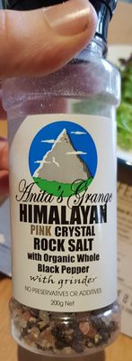 Himalayan Pink Crystal Rock Salt with Organic Black Pepper - Product