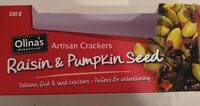 Raisin & Pumpkin Seed Artisan Crackers - Product - en