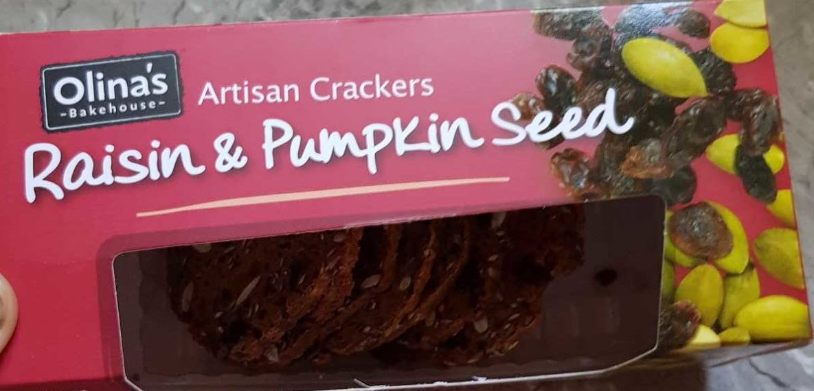 Raisin and Pumpkin Seed Crackers - Produit
