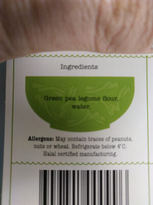 Vegan Green Pea Casarecce - Ingrédients - en
