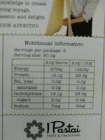 Vegan Green Pea Casarecce - Informations nutritionnelles - en