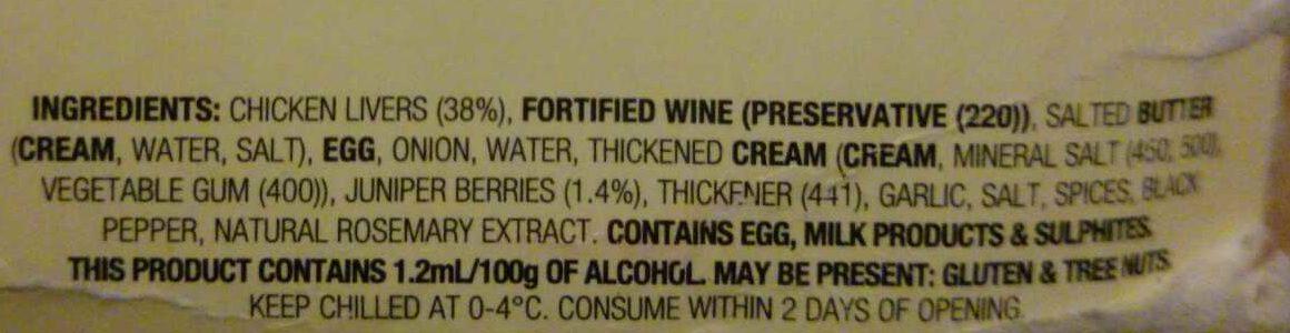 Maggie Beer Pheasant Farm Pate - Ingredients
