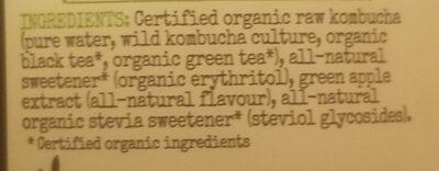 Organic Kombucha Apple Crisp - Ingredients - en