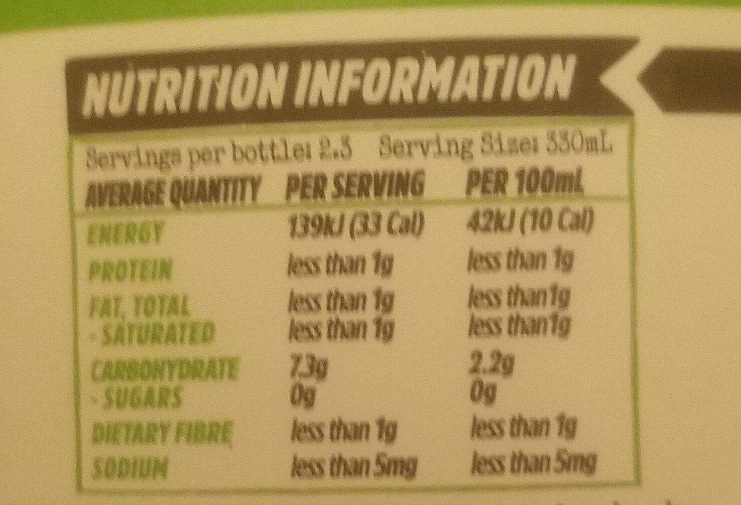 Organic Kombucha Apple Crisp - Nutrition facts - en