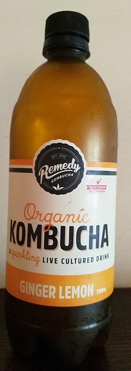 Organic Kombucha - Ginger Lemon - Product - en