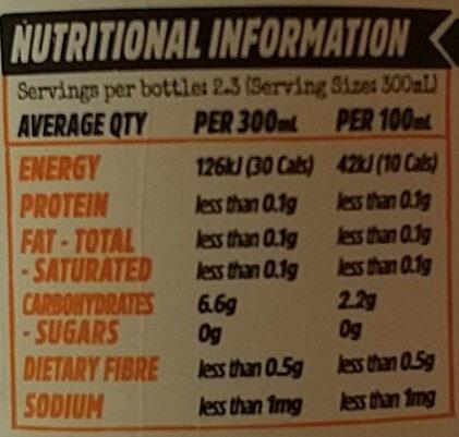 Organic Kombucha - Ginger Lemon - Nutrition facts - en