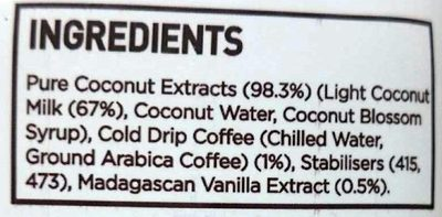 Cor de Coco - Ingredients