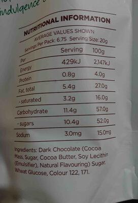 bark bites - Ingredients