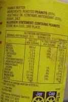 Peanut butter crunchy - Nutrition facts - en