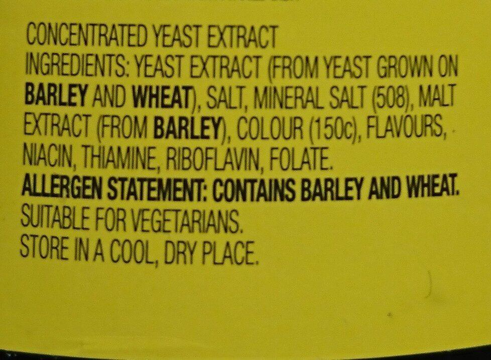 Vegemite - Ingredients - en
