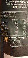 Tropical mango & passionfruit cookie bites - Nutrition facts - en