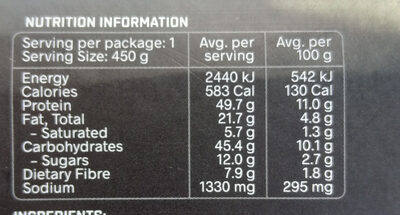Mexican Beef Burrito Bowl - Nutrition facts - en