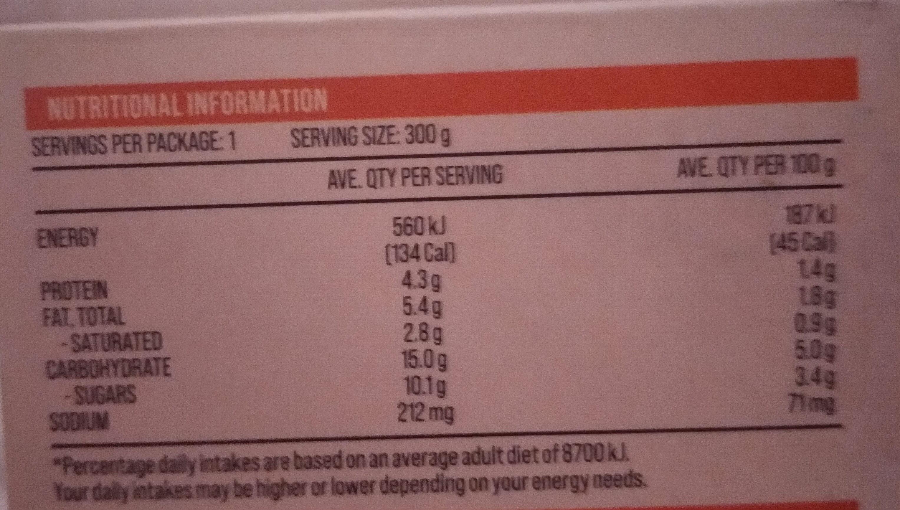 Pumpkin Soup - Voedingswaarden - en