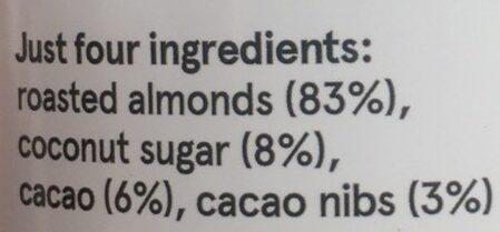 Almond butter cacao butter - Ingredients - en