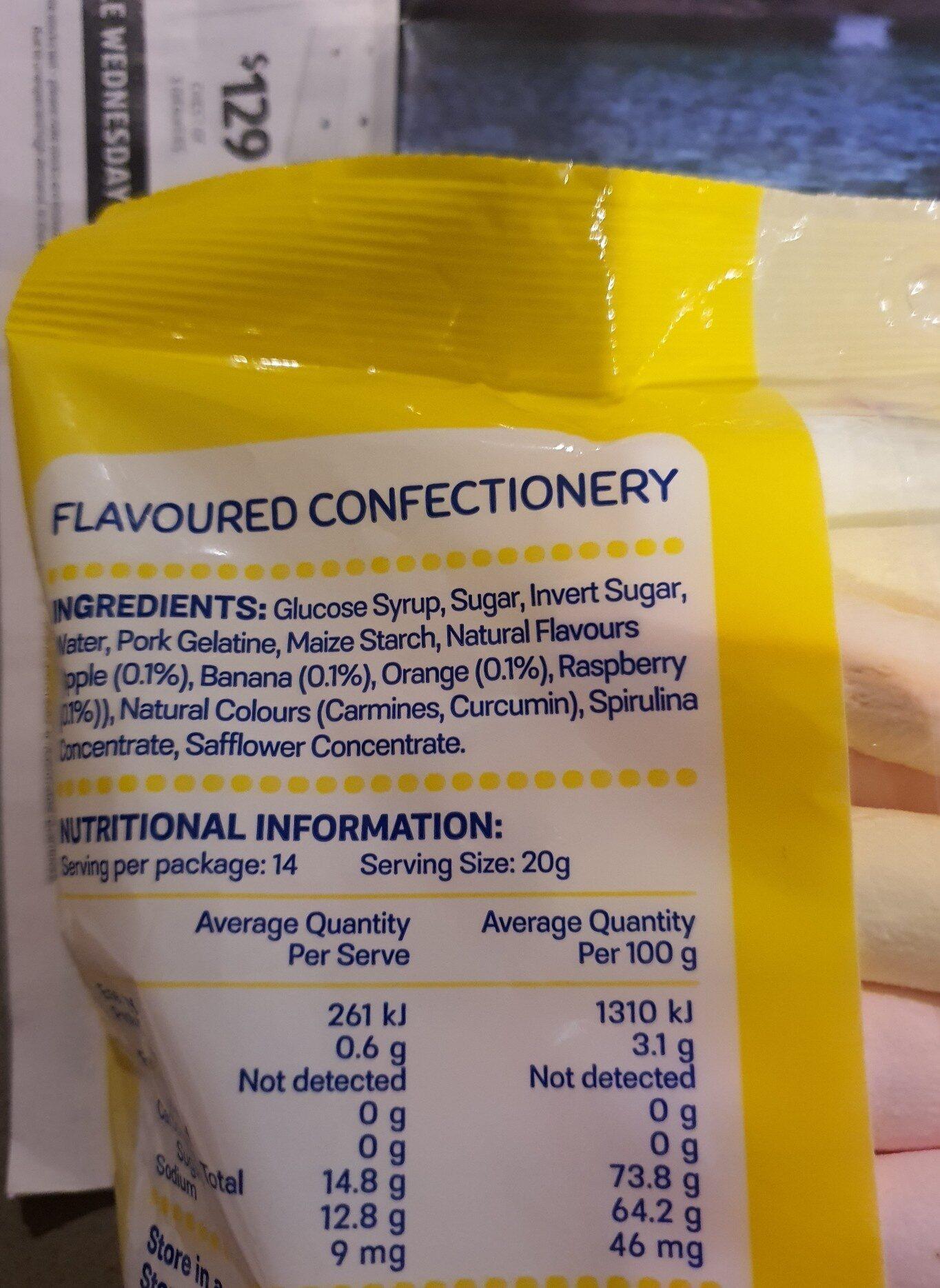 noodles marshmallow - Ingredients - en