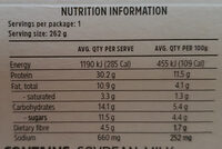Satay Chicken & Veg - Nutrition facts - en