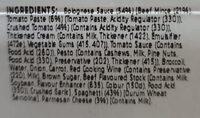 Nonna's Spaghetti Bolognese - Ingredients - en
