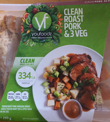 Clean Roast Pork & 3 Veg - Product - en