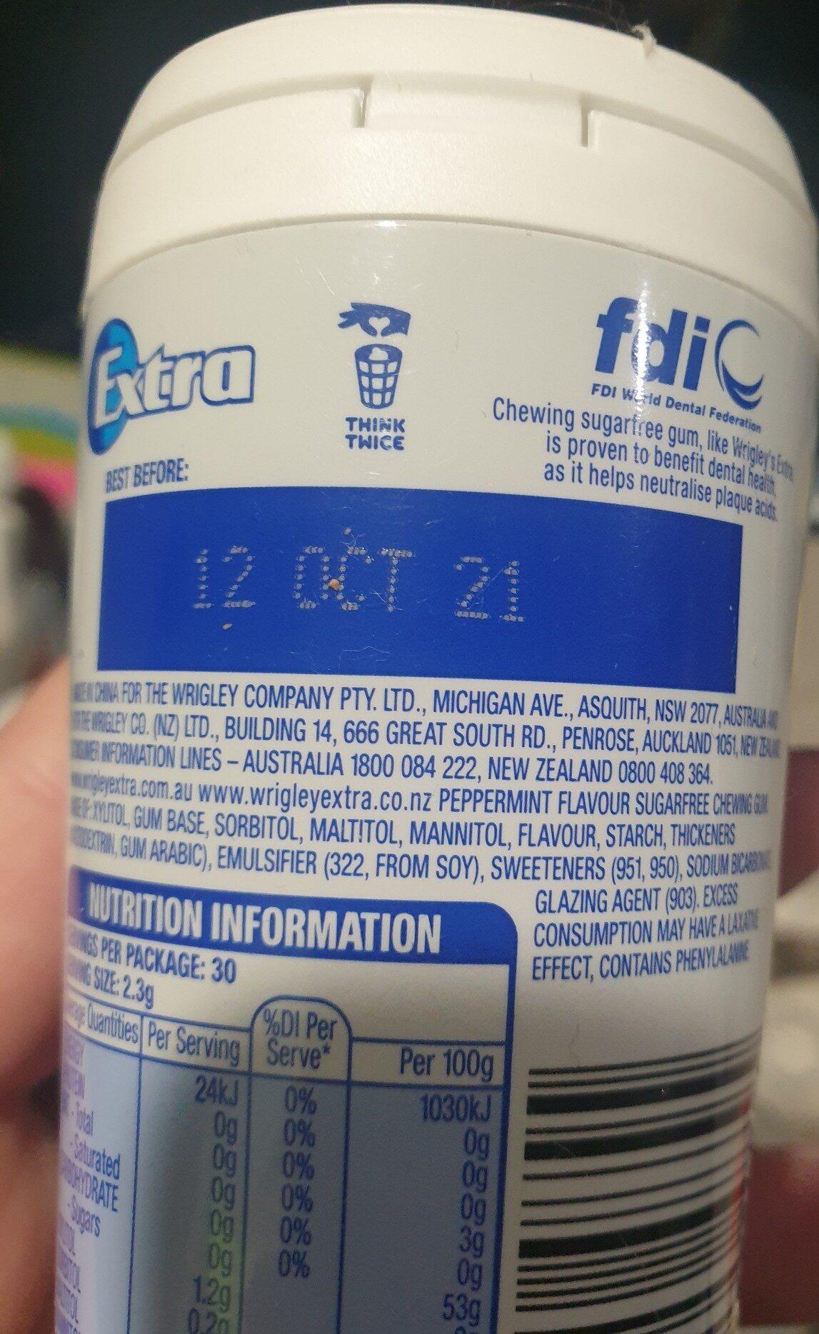 Chewing gum - Ingredients - en