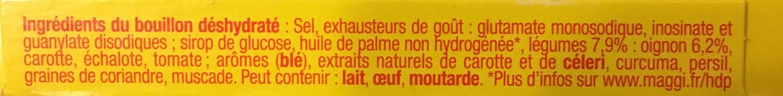 Bouillon Legumes Kub - Ingrediënten