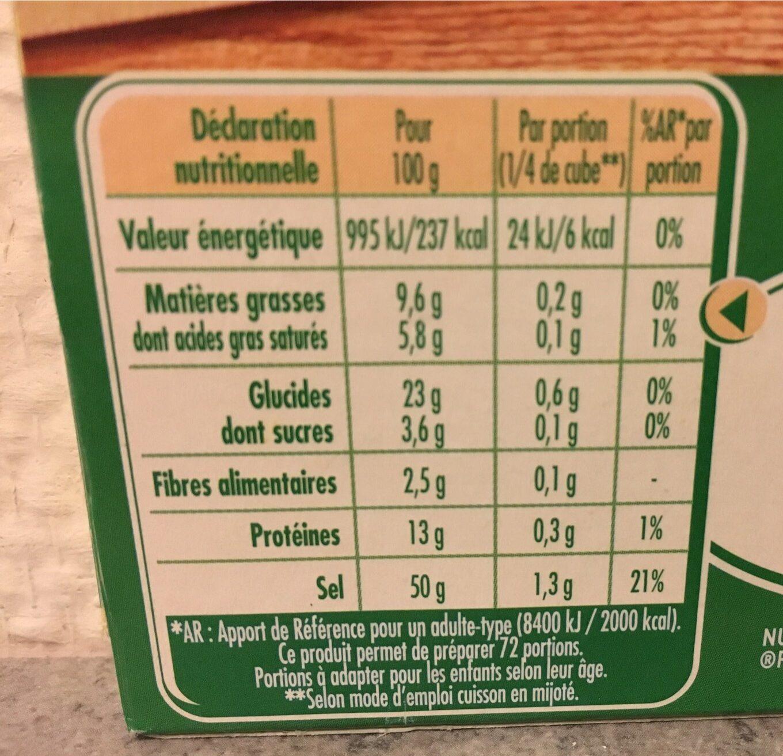 Bouillon Legumes Kub - Voedingswaarden