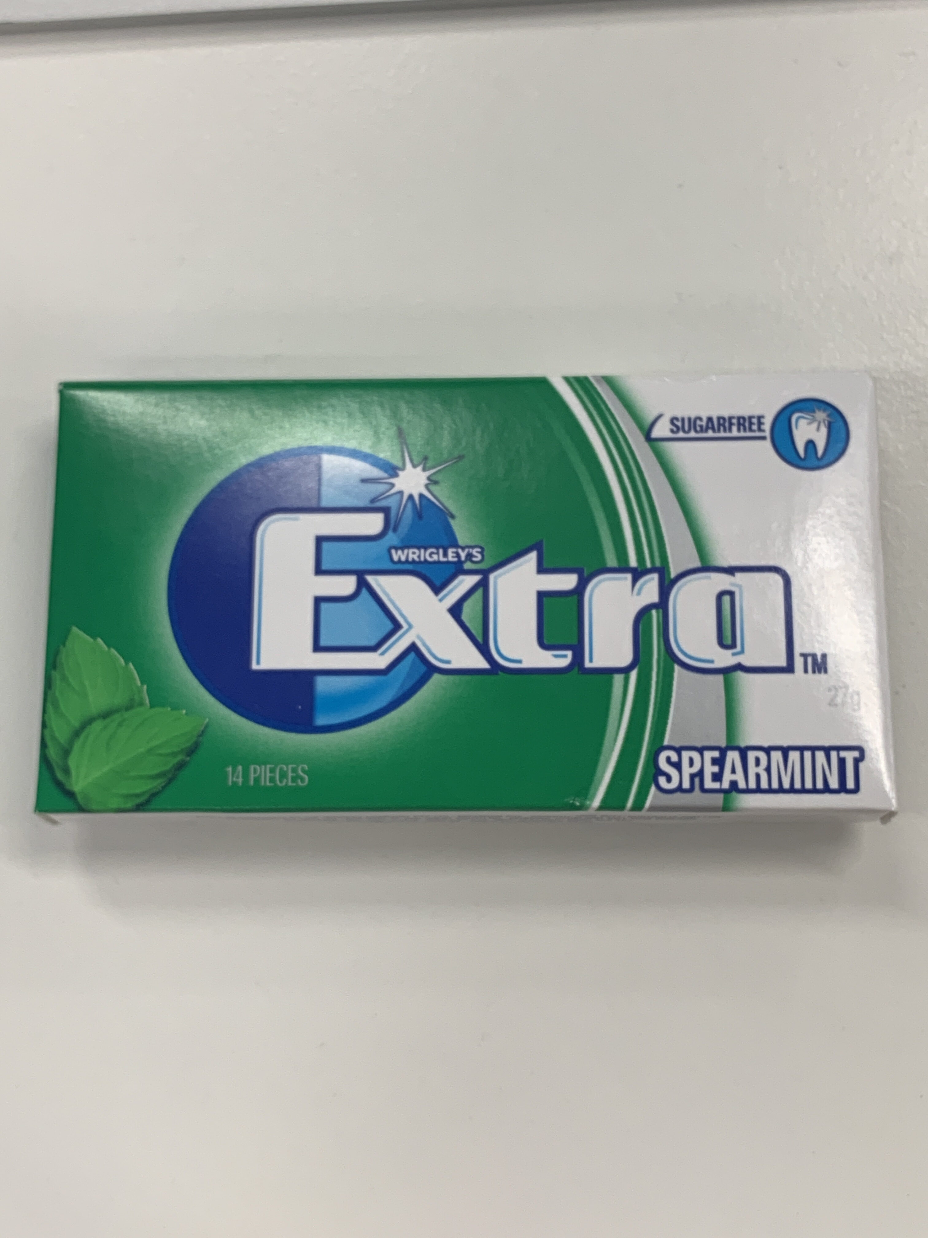 Wrigley's Extra Spearmint Tab Gum 14 Pieces 27G - Product - en