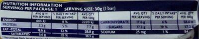 Flake - Nutrition facts - en