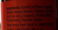 Organic vanilla essence - Ingredients - en