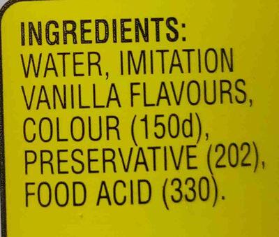 Imitation Vanilla Essence - Ingredients - en