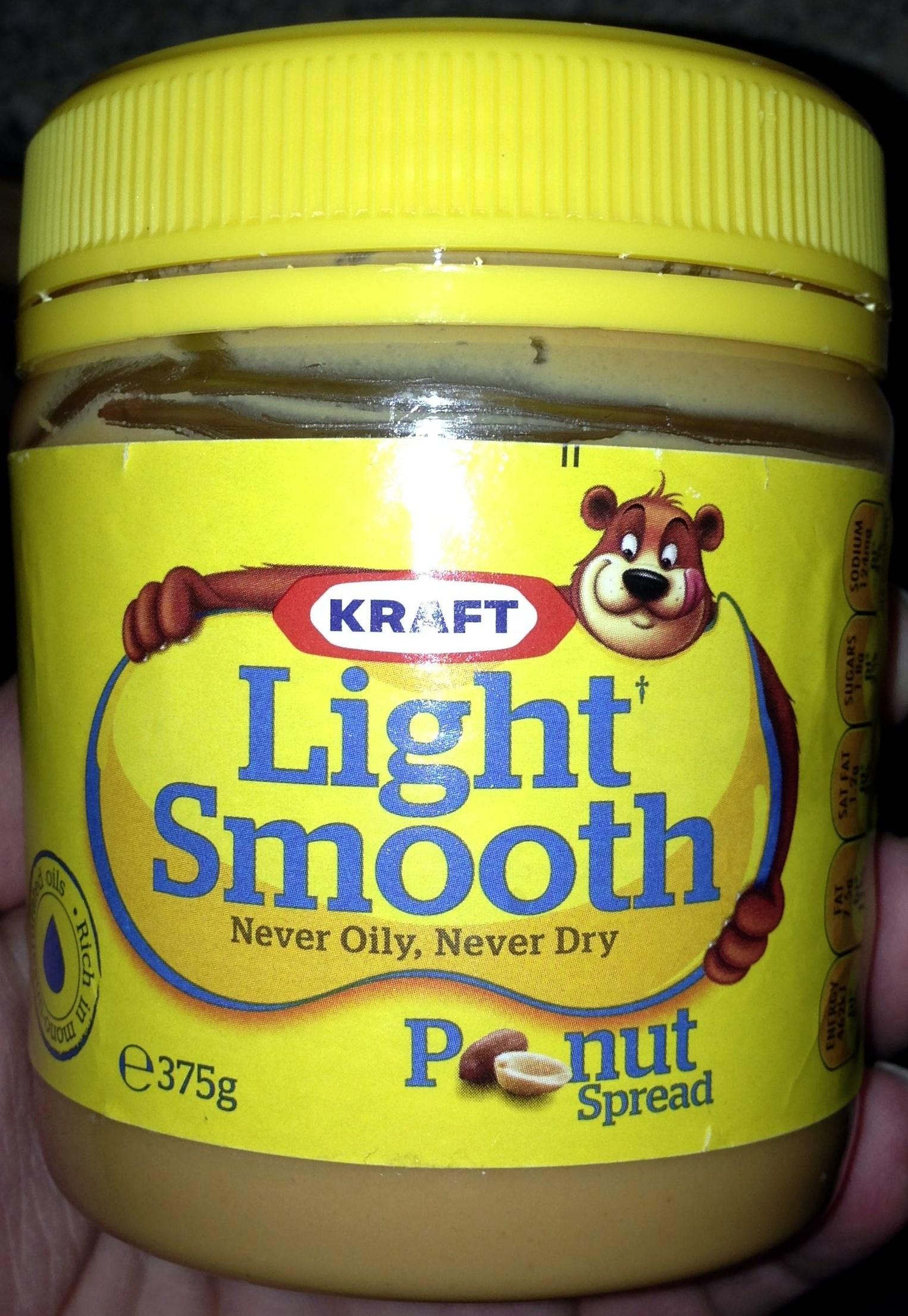 Light Smooth peanut spread - Product - en