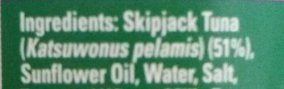 sandwich tuna flakes - Ingredients