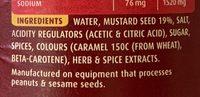 Mild English Mustard - Ingredients - fr