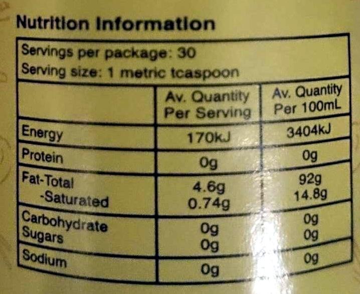 Changs Sesame Oil - Nutrition facts - en