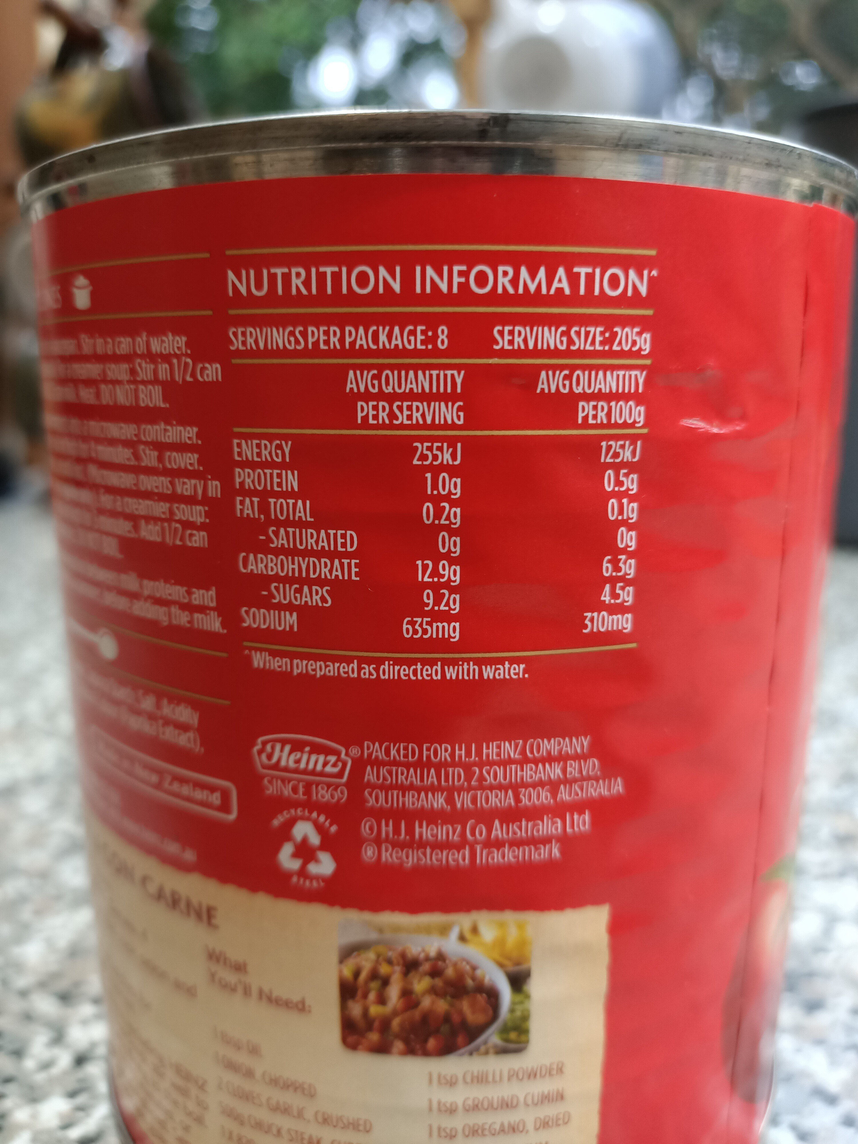 Big Red Tomato Soup - Nutrition facts - en