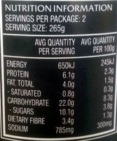 Heinz Big'n Chunky Chicken & Corn - Nutrition facts