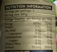 Classic Pea & Ham - Nutrition facts - en