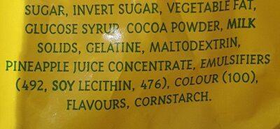 Pastal Pineapple Lumps - Ingredients - en