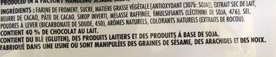 Chocolate fingerd - Ingredients