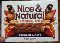 Nice & Natural Roasted Nut Bar Chocolate Almond - Product - en